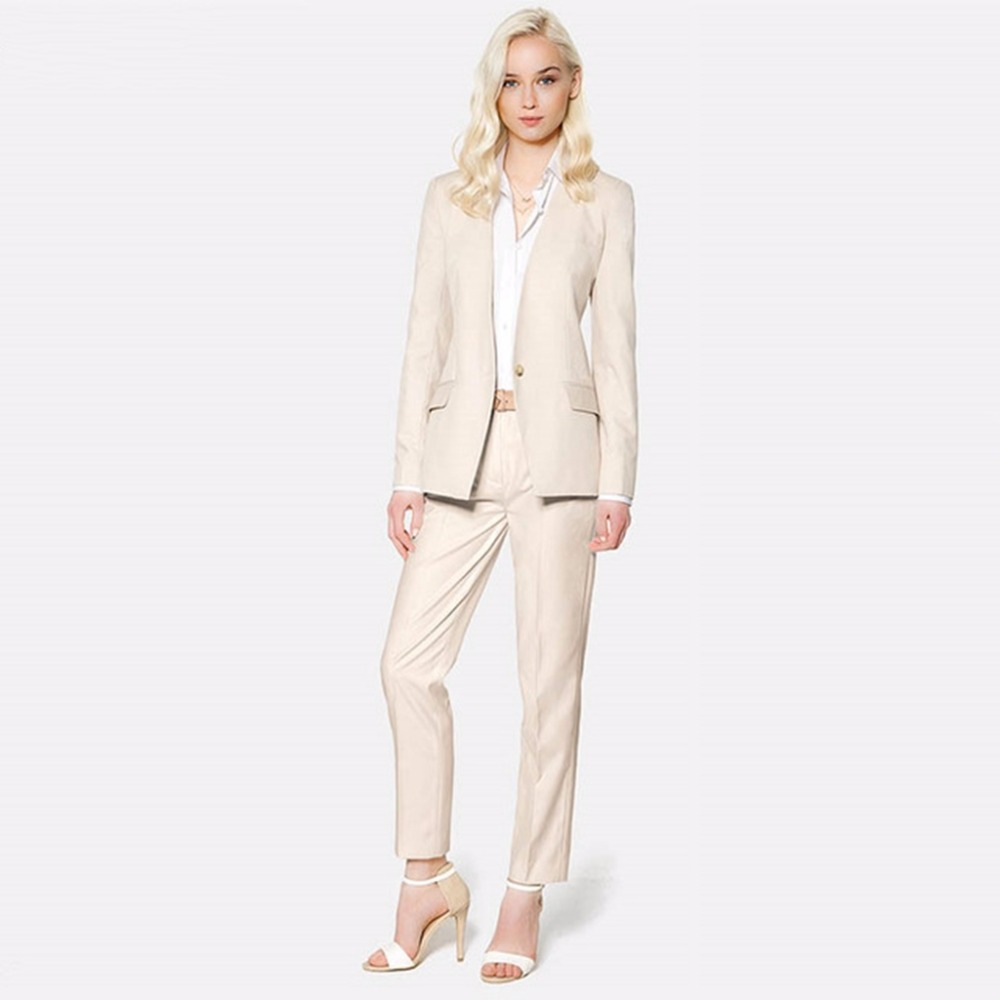 f1754e9b0 US $95.99 |Custom Made Women Casual Pants Suit Business Uniform Designs  Ladies Office Work Formal Set Jacket and Pants W103-in Pant Suits from  Women's ...