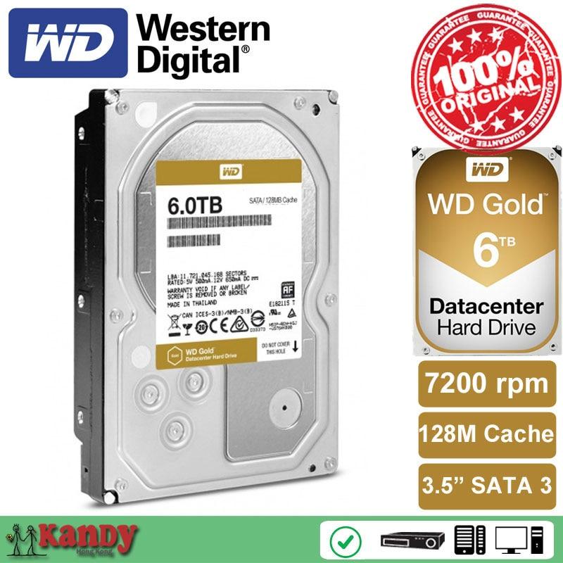 Western Digital WD Gold 6TB hdd sata 3 5 disco duro interno internal hard disk font