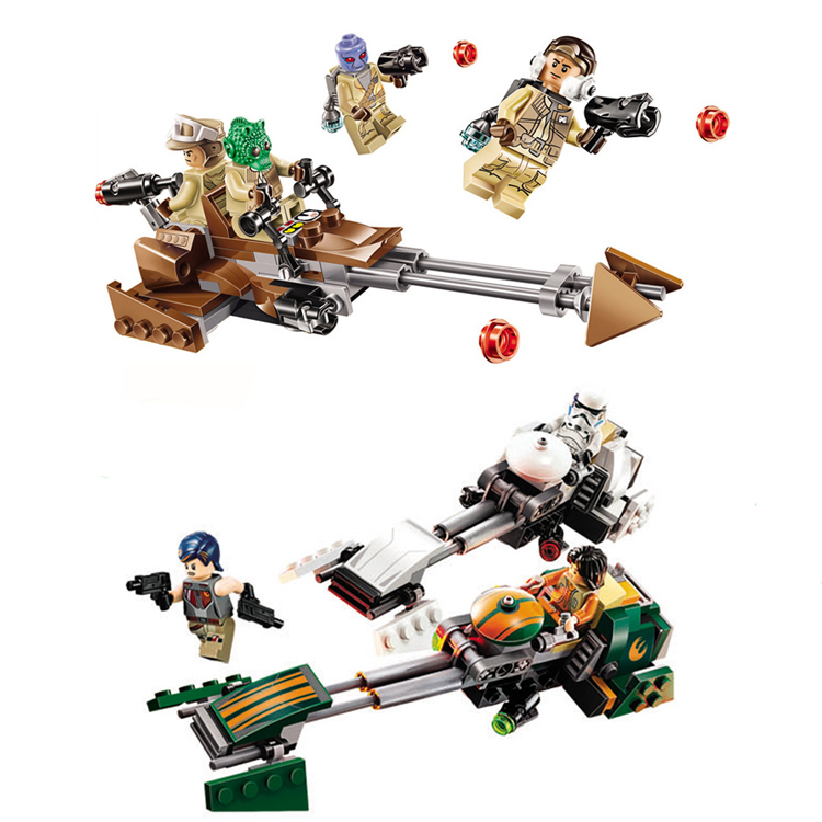 Star Wars Force Awakens Rebel Alliance Battle Pack Action Building Blocks Bricks toy Compatible legoingly Starwars