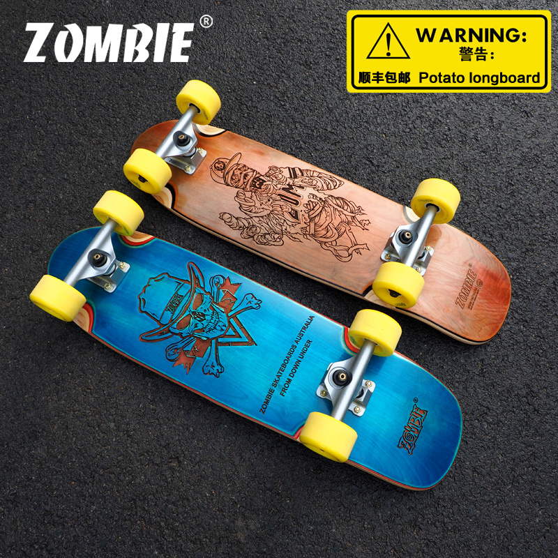 Quality 28.5 Inch Complete Zombie Highway Board Or Skateboard Made By 8 Layers Canadian Maple And Skateboard Accessory For Sk8er