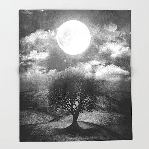 Черный и белый-однажды... Одинокий дерева. Пледы Одеяла 68 x 80 Одеяло