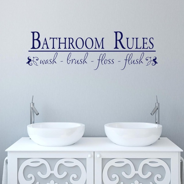 Delicieux Bathroom Rules Wash Your Hands To Keep Healthy Wallpapers Decals Cleaning  Washroom Stickers Removable High Quality