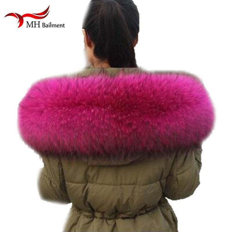 Apparel Accessories Hat Gloves Set Big Fur Collar Genuine Raccoon Fur Hood Trim Scarf Black Color Hoodie Fox Fur Collar Scarf Custom Made Scarf