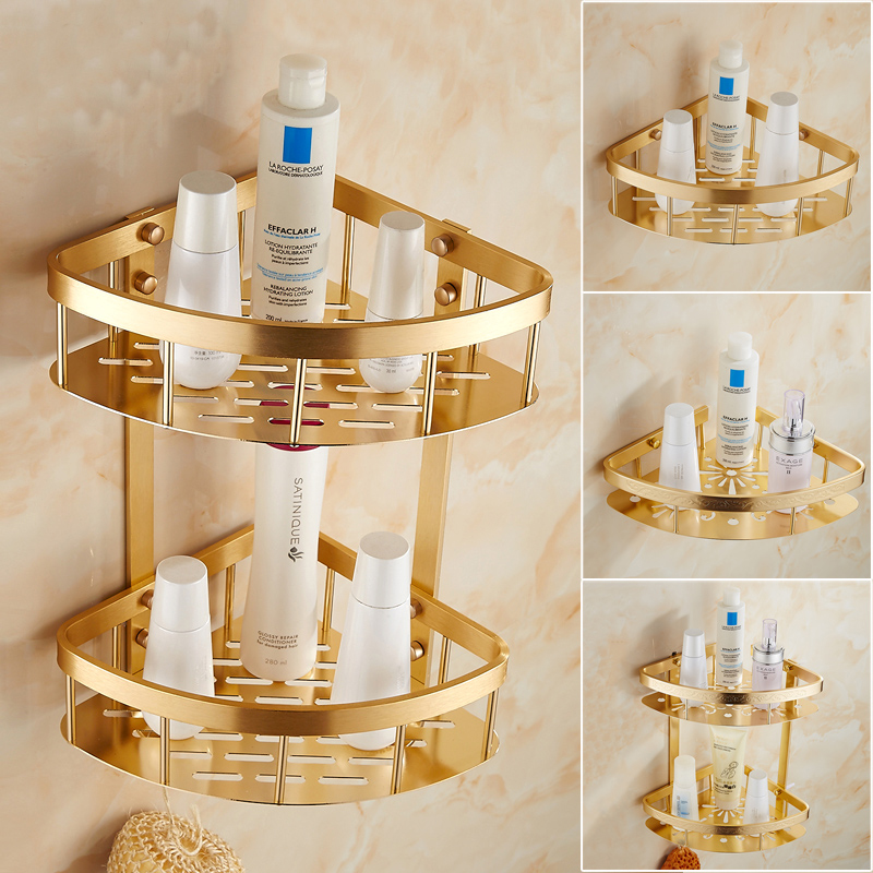 1/2 tier bathroom triangle shelf gold plated, Retro wall toilet ...