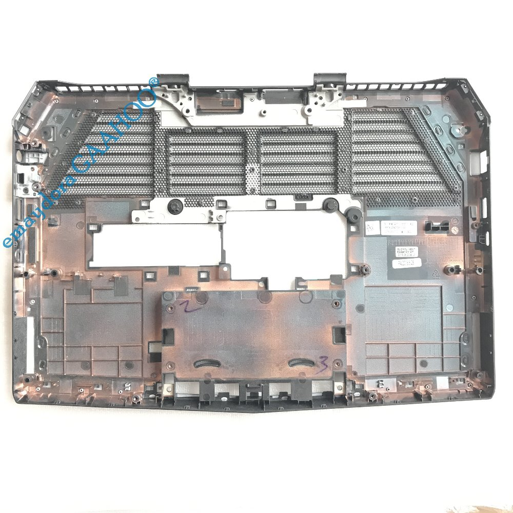 100%New emay GAAHOO laptop case for DELL Alienware 13 R2 bottom date base bottom base  Type C  0CR1W9 CR1W9 new bottom base box for dell inspiron 15 5000 5564 5565 5567 base cn t7j6n t7j6n