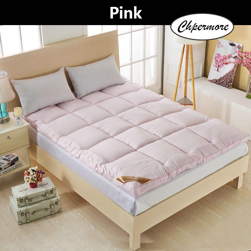 Chpermore  five star hotel Thicken Feather velvet Mattress Foldable Tatami Single double Mattresses Cotton Cover King Queen Size 3