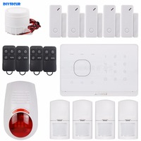 DIYSECUR Application Control of Wireless GSM Automatic Dialing Home Security Alarm System + Wireless Flash Alarm + RFID