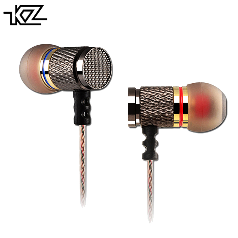 Original KZ ED2/EDR1 Metal Earphones Noise Cancelling HiFi Stereo Earbuds In Ear Headset DJ XBS BASS Earphone fone de ouvido caldecott kdk 303 stereo metal earphones with microphone noise cancelling earbuds in ear headset bass earphone hifi ear phones
