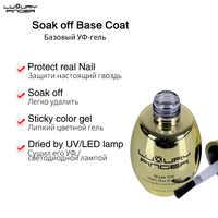 Luxury Finger 15ml Soak Off Base Coat UV Gel Polish Foundation Varnish Enamel ,Use after Primer Protect Nail Dried UV/LED Lamp