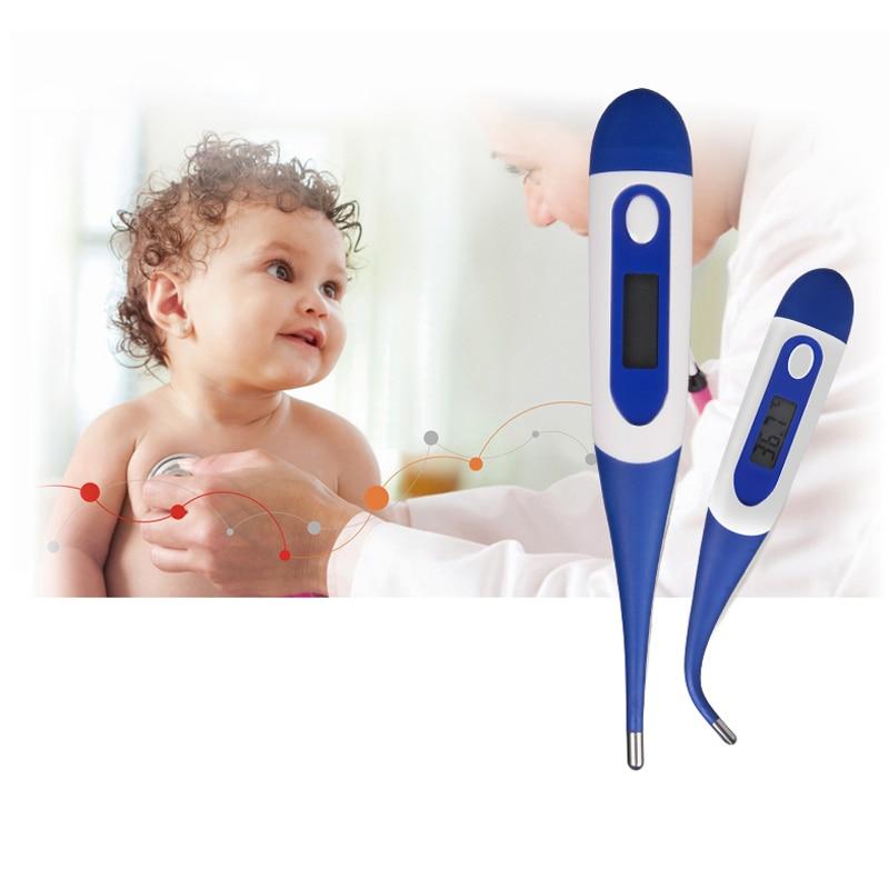 1 шт. цифровой ЖК-дисплей Отопление термометр для маленьких детей Взрослый Бытовая тела Электронные Температура жар градус уход Termometro