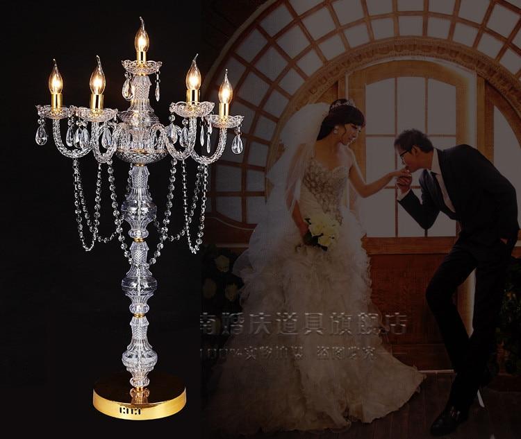 100cm de haut cristal pièce maîtresse acrylique candélabres prise électrique dans la décoration de Table route conduit 10 pièces/lot