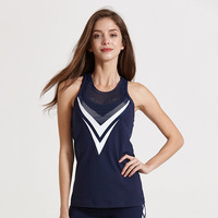 Summer Sexy Women Fitness Vest Gyming Net Patch Clothing Lady Sleeveless Breathable Sporting Breathable Vest Quick