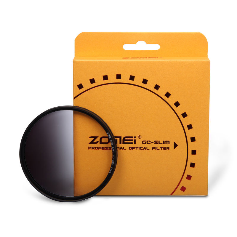 Zomei 49/52/55/58/62/67/72/77/82mm Slim Graduated Grey Neutral Density ND Filter For Canon Nikon Camera