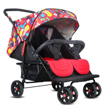 Multi function can enter the elevator twins baby carriages can be folded to sit can be