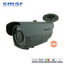 Onvif Cámara IP de Seguridad CCTV Full HD 1080 P 2.0 Megapixel Impermeable Al Aire Libre Cámara de La Bala 2.8-12mm 2 megapíxeles lente de Enfoque