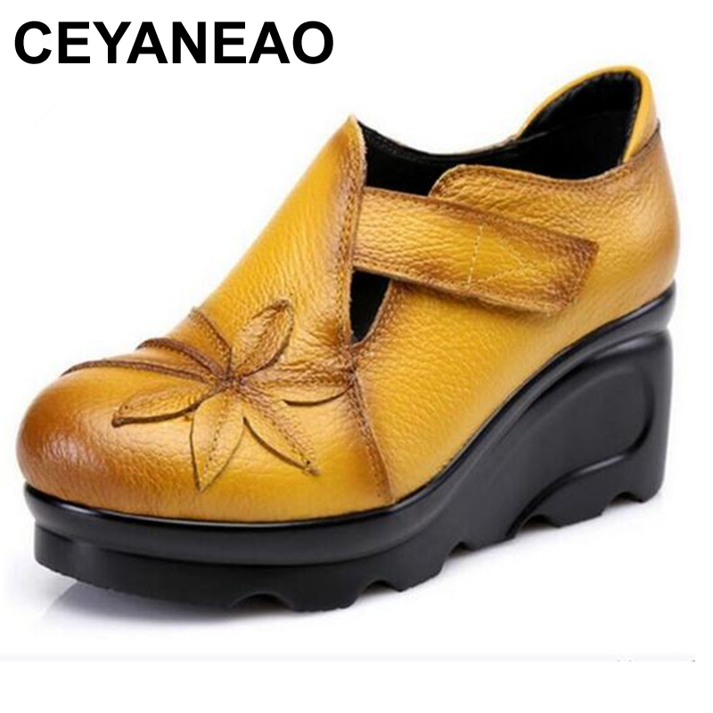 CEYANEAO 2019Genuine leather shoes women shoes high heels 2018 spring fashion casual shoes wedges women pumps Wedding shoese1496CEYANEAO 2019Genuine leather shoes women shoes high heels 2018 spring fashion casual shoes wedges women pumps Wedding shoese1496