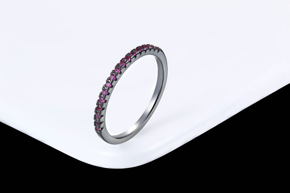 Wedding Ring For Women Man Concise Classical Multicolor Mini Cubic Zirconia Rose Gold Color Fashion Jewelry R132 R133 ZHOUYANG 16