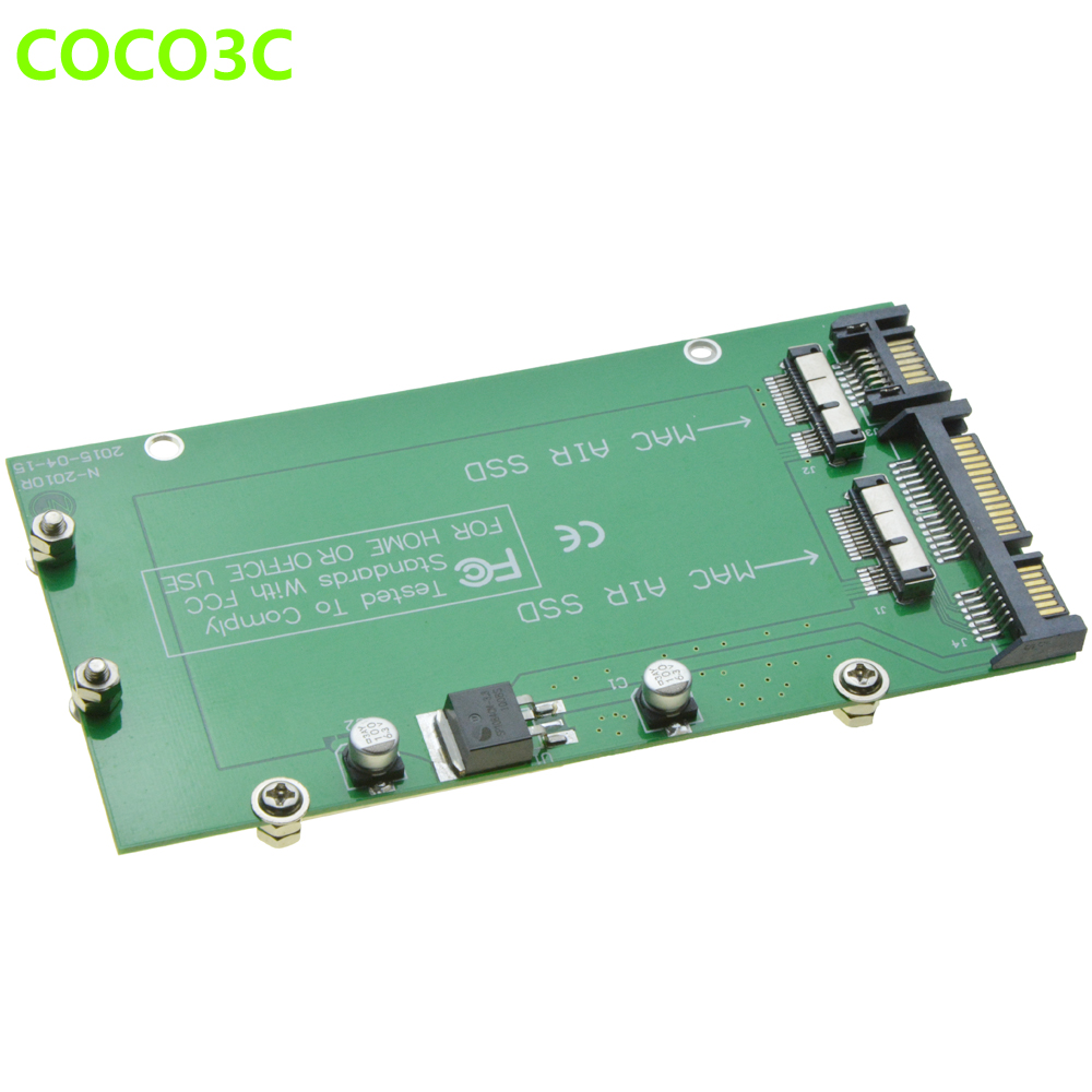 For Macbook 2010 2011 Air A1369 A1370 SSD 2 slots to 2 Port SATA 3 0