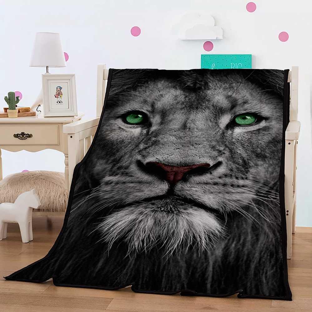 أفضل. WENSD بطانية للنوم غطاء أريكة فراش سرائر للمنازل مجموعات ويلقي جودة الأسود بطانية النمر الأسد رمي بطانية مانتا