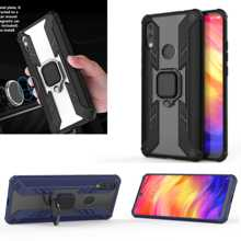 Armor Ring Case For xiaomi redmi 7 case Magnetic Car Hold Shockproof clear Bumper Cover note mi8 lite