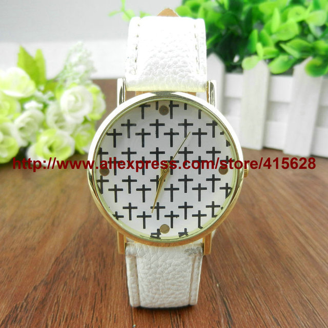 dd1ddde0837 New Fashion Geneva Watches Platinum Women Floral Quartz Watch Daisy Flower  Watch Clock Brown PU Leather