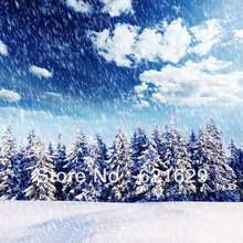 Swirling snow 8'x8′ CP Computer-painted Scenic Photography Background Photo Studio Backdrop ZJZ-066