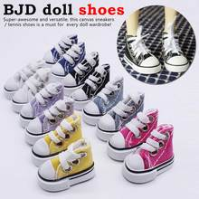 Cute Canvas Lace Up Sneakers Shoes For Dolls Baby Toy Doll