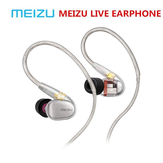 Original Meizu Live Quad Driver Earphone HiFi Professional Monitor Audiophile Earphones Four Unit Balanced Armature for phonePhone Earphones & Headphones   -