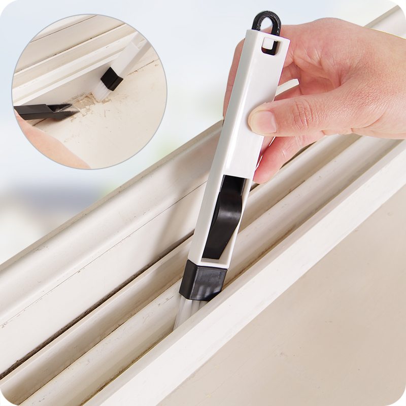 The doors and windows groove cleaning brush with a small brush screen cleaning tool slot dead dustpan