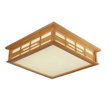 Japanese LED Wooden Bedroom Ceiling Lamps Traditional Study Room Ceiling Light Living Room Restaurant PVC Ceiling Lamp Fixtures