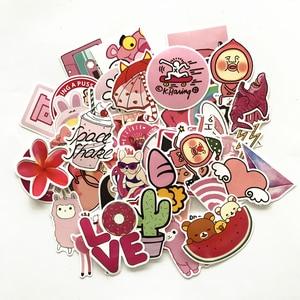 Image 3 - TD ZW 50Pcs Pink Girl Cute Cartoon Stickers For Skateboard Laptop Luggage Fridge Phone Styling Sticker