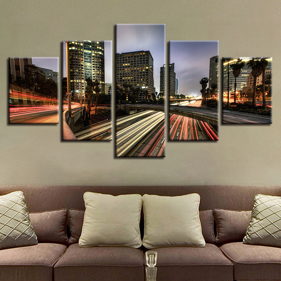 Canvas Wall Art Pictures Home Decor 5 Pieces Los Angeles