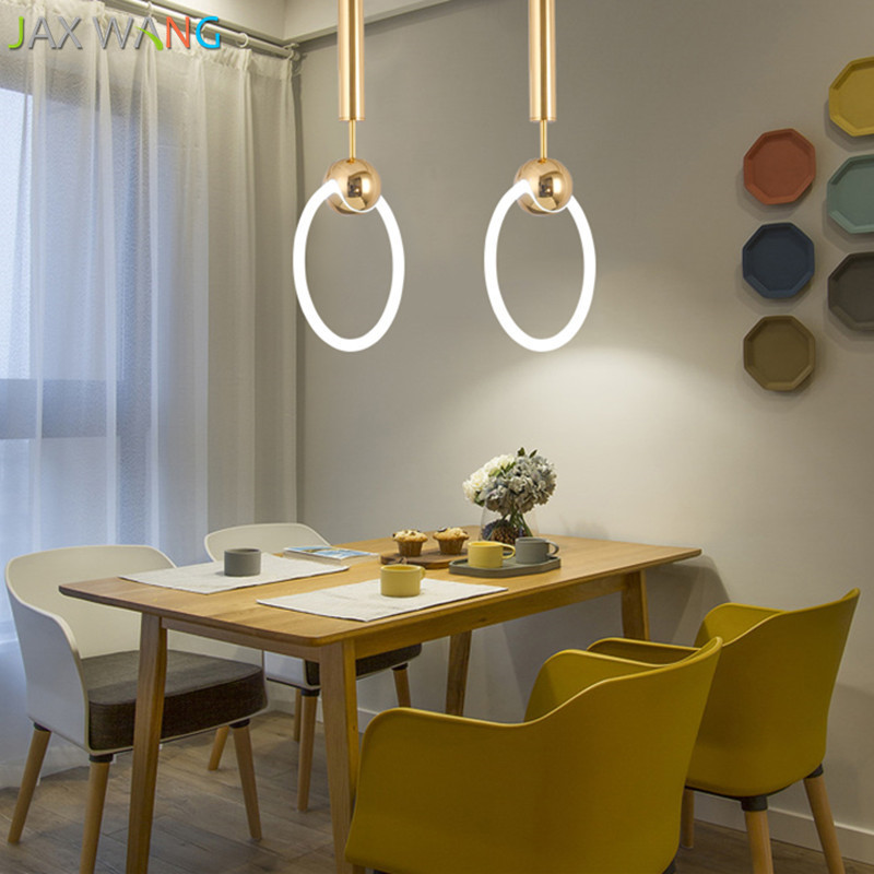 Modern LED Pendant Light Fashion Pendant LampS Restaurant Nordic Balcony Shop Dress Shop Bar Decoration Hanging Lamp in Pendant Lights from Lights Lighting