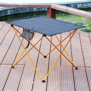 Image 4 - 캠핑 테이블 야외 foldable 어셈블리 diy 피크닉 책상 휴대용 안티 슬립 레저 여행 알루미늄 소재 접는 의자