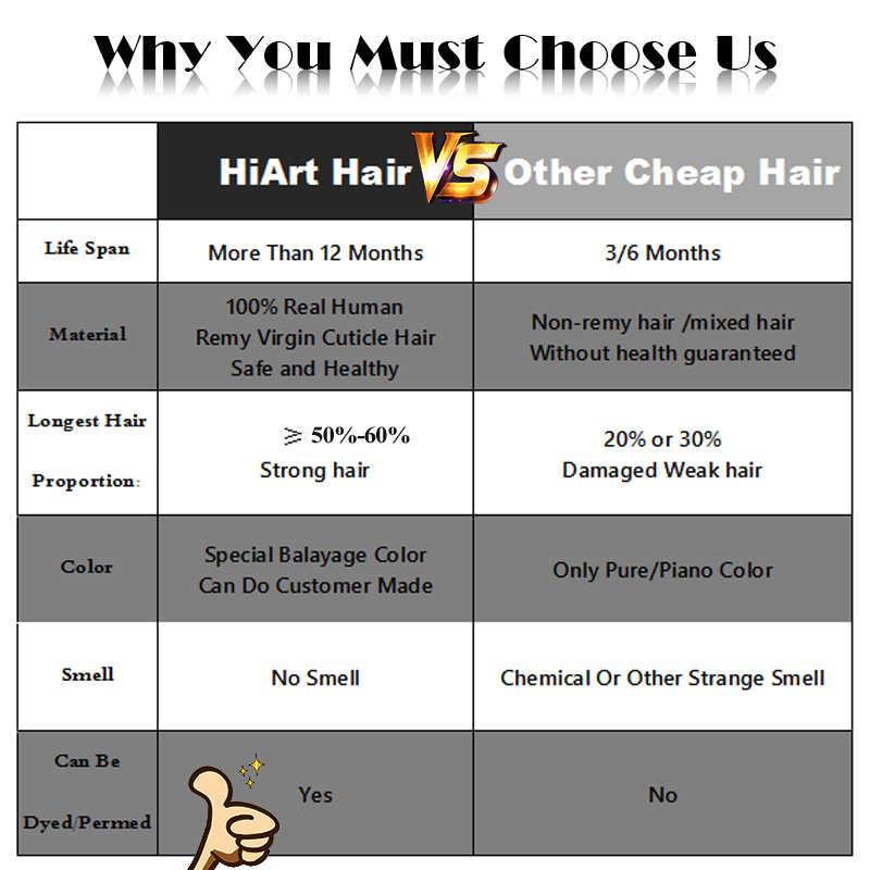 "HiArt 90g שיער ערב מכונת עשתה סלון סופר כפול נמשך שיער Exensions Balayage ערב הארכת שיער ישר 18 ""20"" 22"""