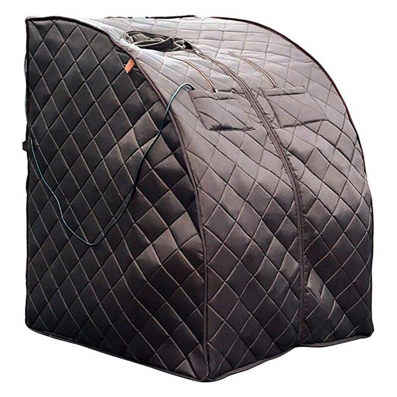 Portable Infrarouge Lointain Sauna Personnels Pliage Maison Sauna Spa Sec Portable Sauna De Bain plaque De fiber de Carbone chauffage Perdre Du Poids