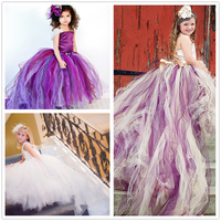 2018 White Purple Dresses for Girls Age 11 12 13 14 Years Girl Dress Ceremony Gown Bridesmaid Cloud Child Maxi Dresses for Kids