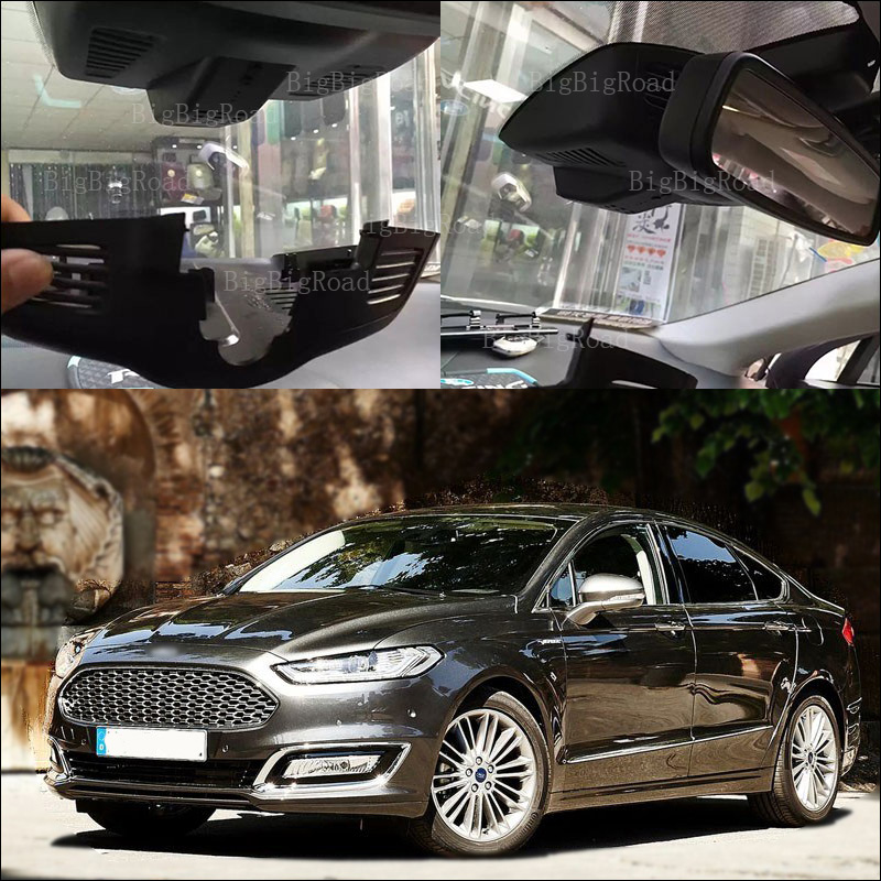 BigBigRoad For Ford Mondeo 2015 High configuration front camera Video Recorder car Black Box Wifi DVR keep car original style bigbigroad for ford mondeo 2015 high configuration car wifi dvr video recorder dash cam car black box keep car original style