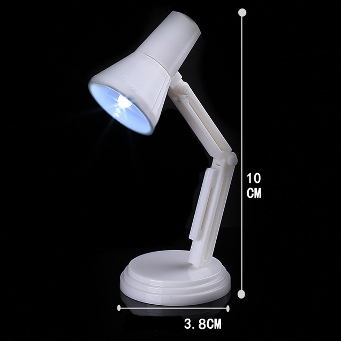4.5V Mini Folding LED Desk Lamps Book Reading Light Portable Book Lights for Night Study Readers
