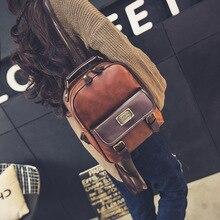 Женщины рюкзак женский бренд рюкзак колледж стиль кожа рюкзак школьные рюкзаки старинные студент школьный ретро рюкзак