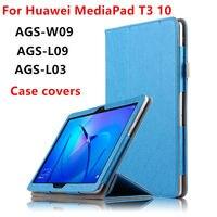 جراب لهاتف Huawei MediaPad T3 10 جراب حماية لهاتف huawei t310 ags-w09 l09 l03 جراب بغلاف PU 9.6 بوصة