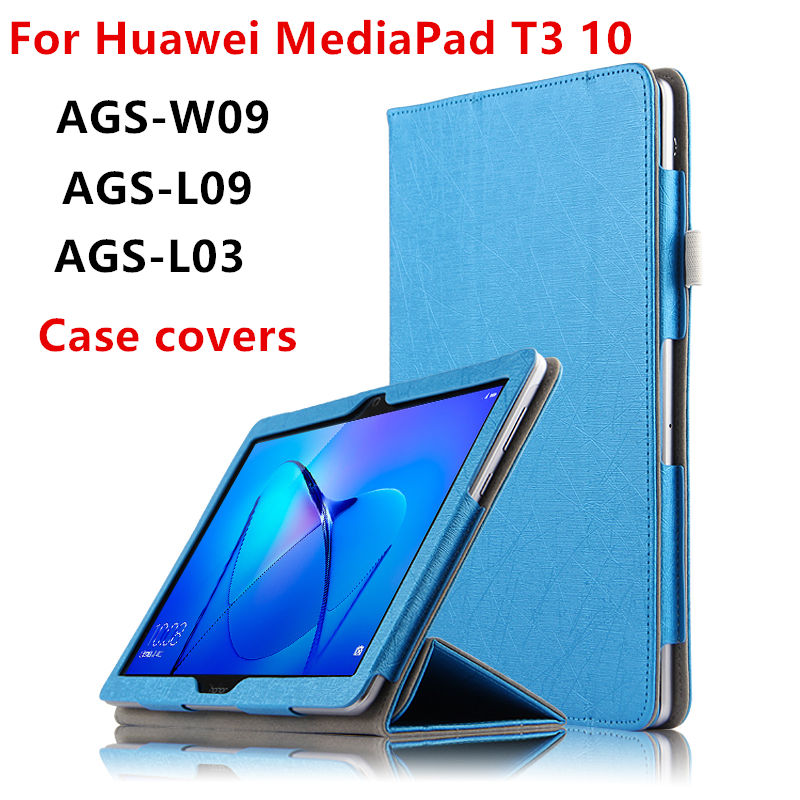 Case For Huawei MediaPad T3 10 Protective Smart Cover Tablet For huawei t310 ags-w09 l09 l03 Case 9.6 inch PU Protector Leather textured padded bikini