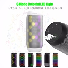 lewinner colorful Waterproof LED Portable Bluetooth Speaker BQ-615 Wireless Super Bass Mini Speaker with Flashing Lights FM