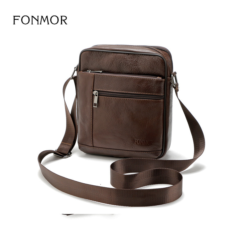 FONMOR Genuine Leather Men Briefcase Brand Luxury Cowhide Shoulder Messenger Bag High Quality Casual Zipper Office Men BagFONMOR Genuine Leather Men Briefcase Brand Luxury Cowhide Shoulder Messenger Bag High Quality Casual Zipper Office Men Bag