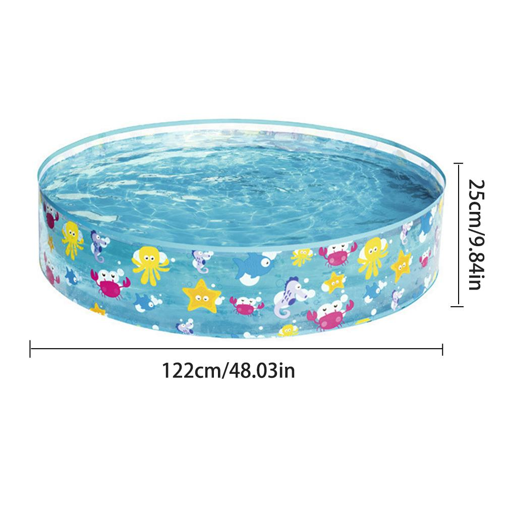 2019 122x25CM Kid Inflatable Swimming Pool Marine Ball Pool Hard Rubber  Round Infant Tub Hard Plastic Wall And Solid Bottom From Wudun, $33.16 | ...