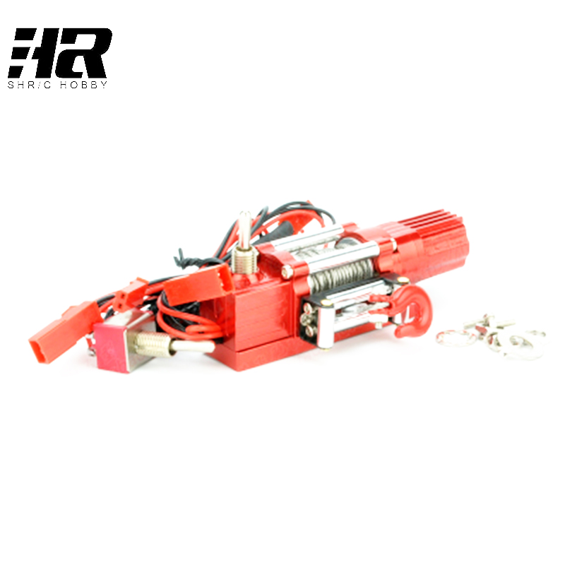 High emulation remote RC model climbing pickup truck with metal electric winch strength 1/8 1/10 tfl c1616 01 emulation winch a aluminium alloy rc car parts