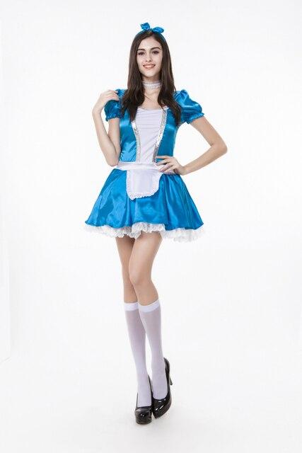 Neue Erwachsene Frauen Alice im Wunderland Kostüm Sexy Trau Blaue ...