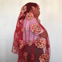 DF!african scarf fabric with stones french net scarf shawl nigerian women headties high quality ! P82317