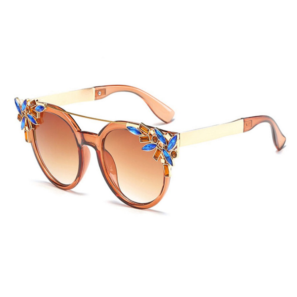 Décoration des Lunettes de Soleil En Métal Cadre UV400 Lunettes UV  Protection Anti vertige lunettes de Soleil Femmes ... f05dc9d63da5