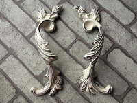 3 75 5 Pair Of Cabinet Handles Dresser Drawer Pull Handles White Silver Rustic Wardrobe Handle
